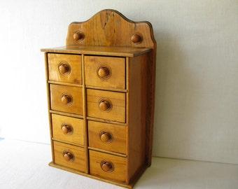 Antique Spice Chest Cabinet