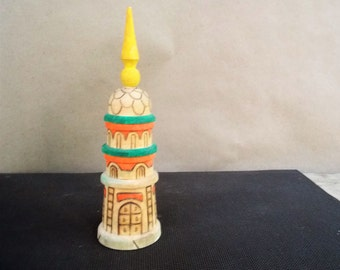 Vintage Russian Wooden Souvenir Spired Tower