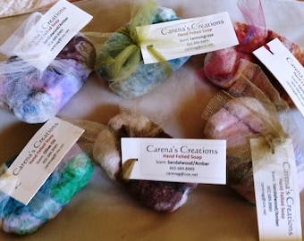 Handmade Local Felted Soap