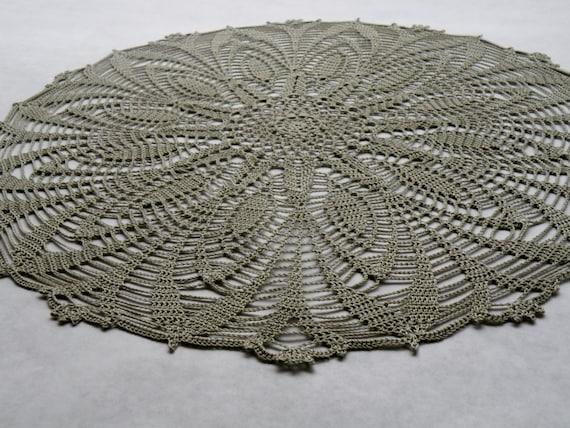 Ajouré vert Nil fait main au Crochet napperon Crochet Unique mode Decor accessoire Crochet dentelle mariage Table Design ronde au Crochet pour la vente