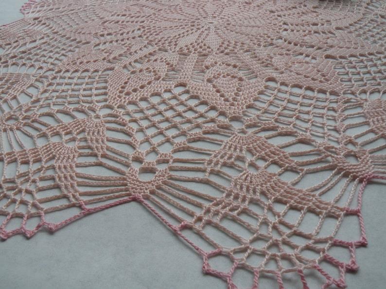 Tender baby rose Handmade  Crochet Doily Unique Design Handmade Gift For Wedding Kitchen Accessory Show Room Crochet Decor Crochet for Sale