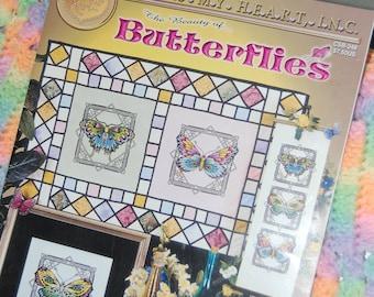 The BEAUTY OF BUTTERFLIES Cross Stitch Pattern Book