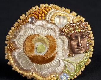 CUSTOM Example (Theodosia, bead embroidered doll)