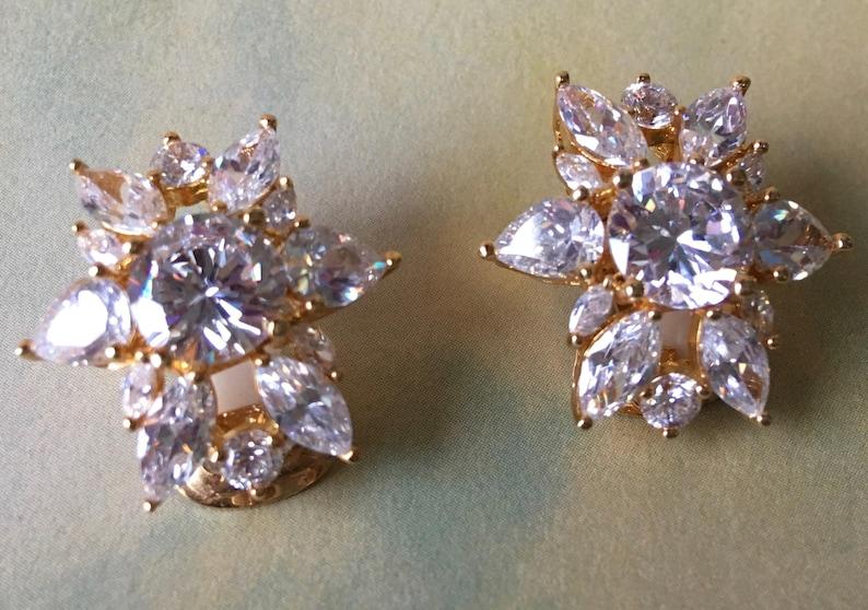 142c70e4f Sparkling Crystal Snowflake Earrings Swarovski Crystals | Etsy
