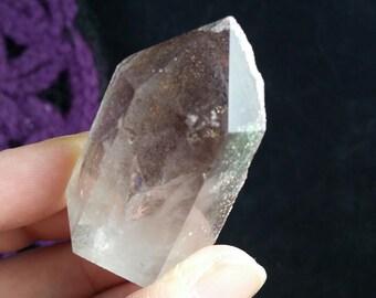 Lodolite Garden Quartz Crystal Point Included Crystals Gemstones Stones tower polished self standing scenic quartz purple
