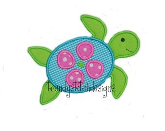 Sea Turtle Applique Design Machine Embroidery Design INSTANT DOWNLOAD