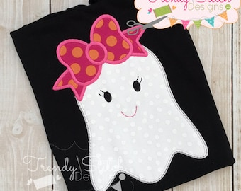 Ghost Bow Applique design Machine Embroidery Design INSTANT DOWNLOAD