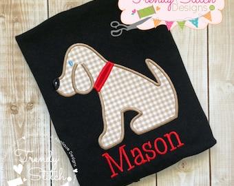 Puppy 1 Applique Machine Embroidery Design INSTANT DOWNLOAD