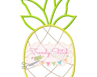 Pineapple Applique Design Machine Embroidery Design INSTANT DOWNLOAD Stand