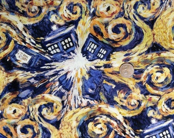 Fabric BTY  Dr. Who Exploding TARDIS