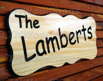 Custom Carved Wood Sign, Wood Signs, Cabin Signs, Wedding Signs, Last Name Sign, Family Name Sign, Established Sign, Lake Home Sign, Custom