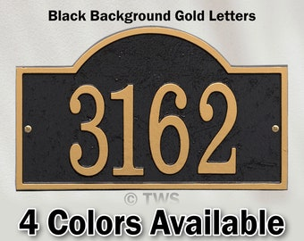 Arch Shaped Metal House Number Plaque With Hardware - Sign Personalized With Your House Number