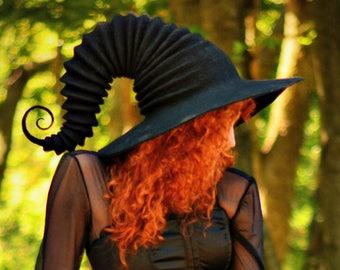 4f85ef293d49c1 Costume Hat. Witch Hat. Wizard Hat. Fantasy Hat. Cosplay Hat. LARP.