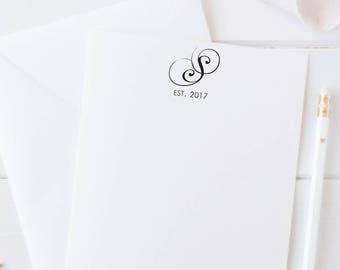Personalized Couples Stationery, Personalized Wedding Stationery, Monogram Notecard Set, Wedding Gift, Couples Monogrammed Stationery Set