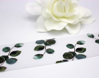 Eucalyptus Vellum Belly Bands for 5 x 7 Invitations and Cards, Printed Greenery Wedding Invitation Bands
