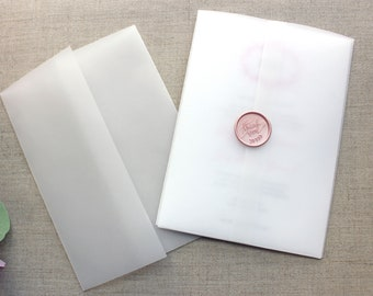 Vellum Wrap For 5 x 7 Invitations Vellum Jackets Vellum Paper Supplies Vellum Invitation Wrap Wedding Paper Supplies