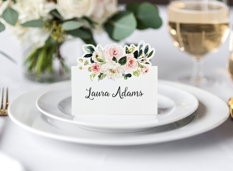 Flat Blank Blush Place Cards for Wedding Events and Bridal image 1