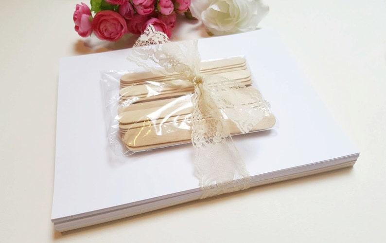 Wedding Program Fans / DIY Wedding Fan Kit / Craft Sticks & Cardstock / DIY  Program Kit for Assembling Your Own Fans / Basic Package
