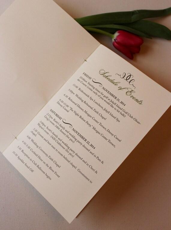 wedding programs welcome wedding booklet wedding welcome etsy