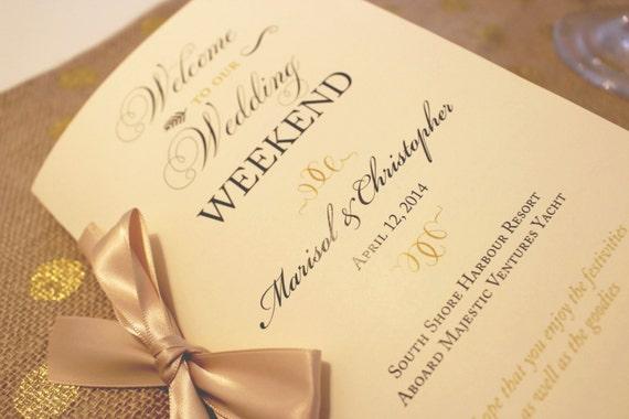Willkommen Sie Hochzeit Hefte Goldene Hochzeit Hefte Willkommen Brief Hochzeit Timeline Willkommen Tasche Broschüre Gold Hochzeit Willkommen