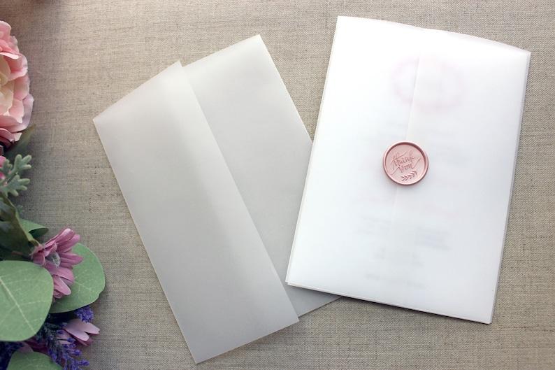 Vellum Wrap For 5 x 7 Invitations Vellum Jackets Vellum Paper image 0