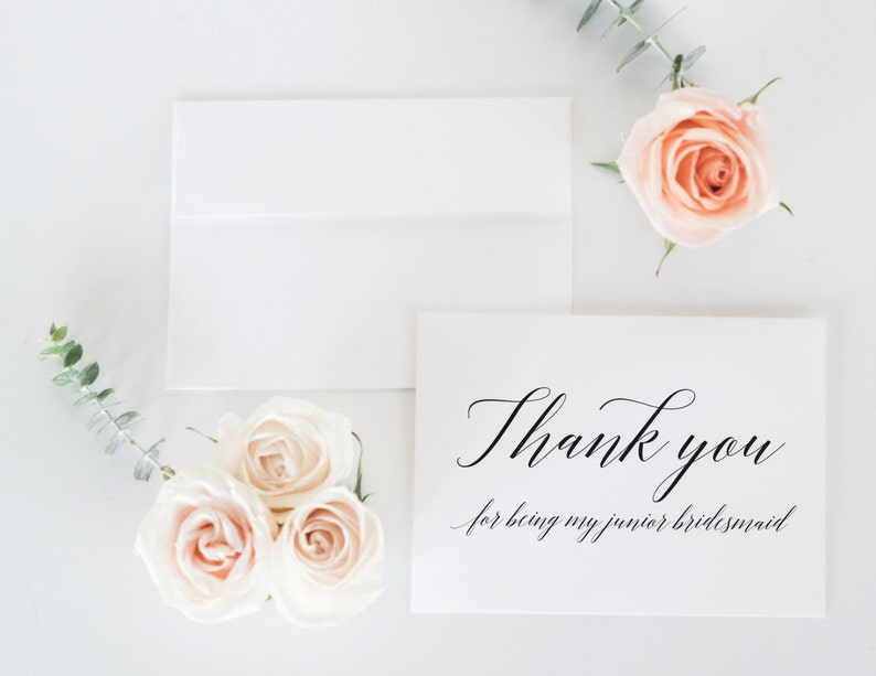 Bridesmaid Card Thank You For Being My Maid of Honor Bridal Party Thank You Card Set x 6 Bridal Party Thank You Cards Maid of Honor Card