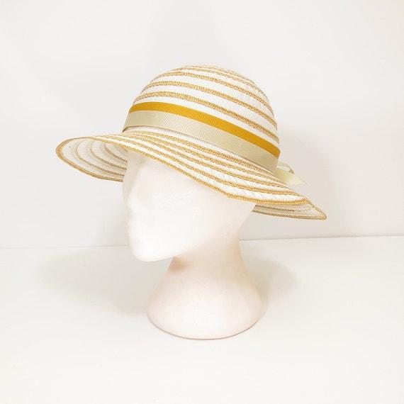 60s 70s straw hat / 60s 70s vintage summer hat / 6