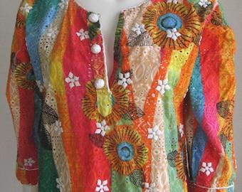 70s vintage dress - Embellished tunic