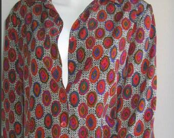 SILK 1980s blouse handmade