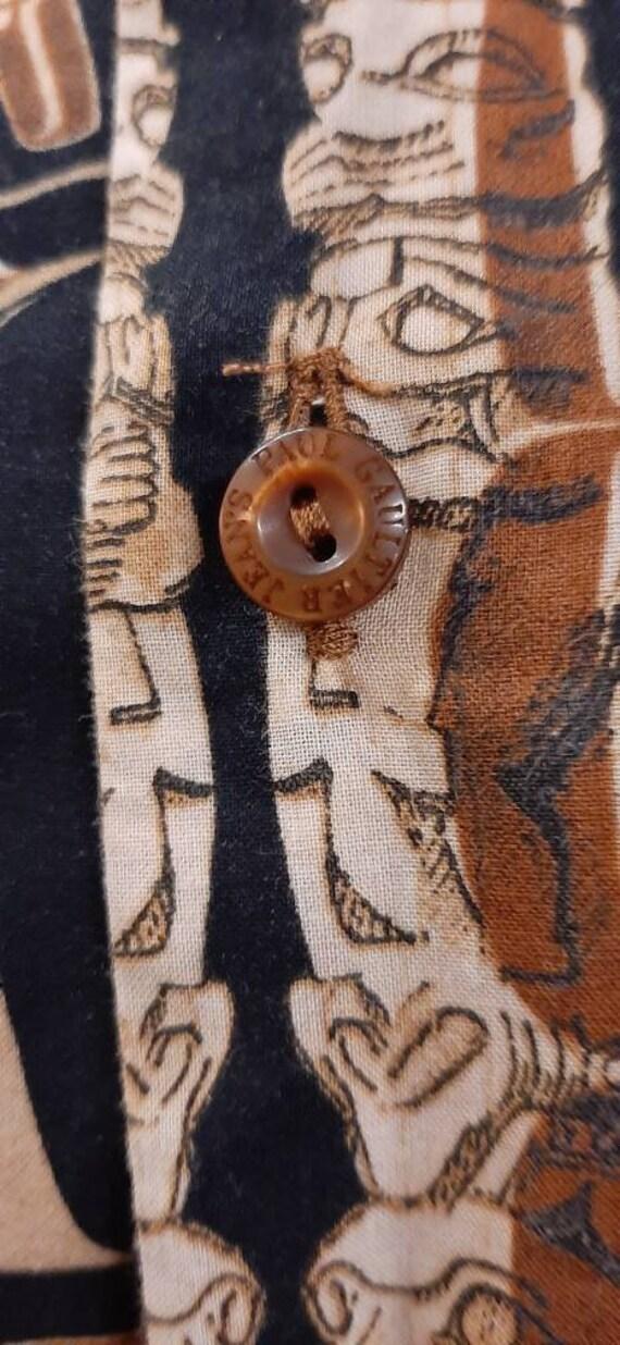 Jean Paul Gaultier vintage ethnic print cotton sh… - image 8