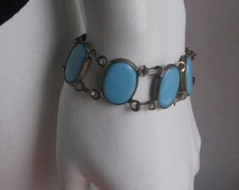 60s 70s  vintage blue bracelet