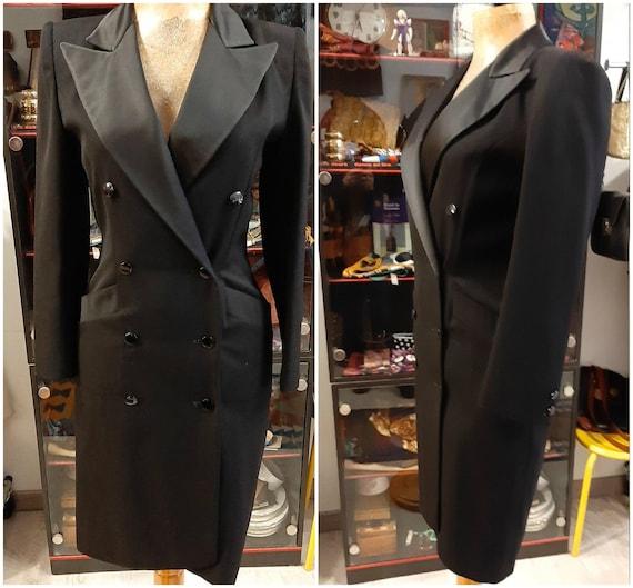 Guy Laroche Vintage black wool coat  long jacket l
