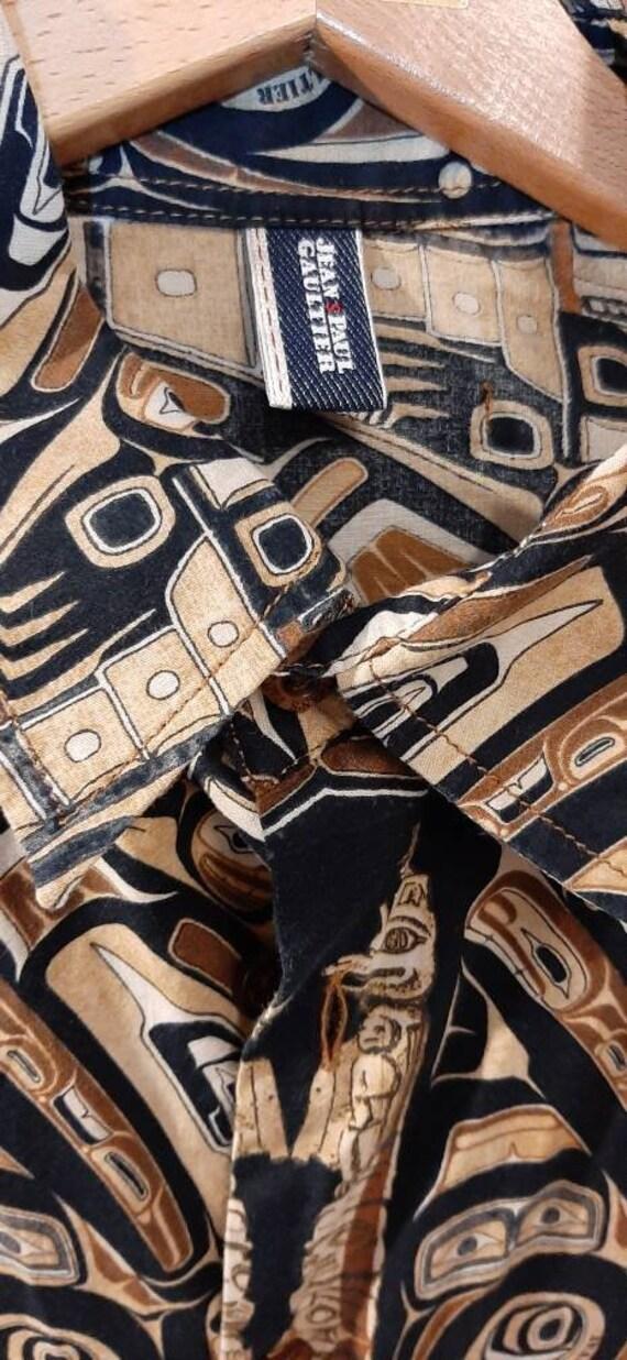 Jean Paul Gaultier vintage ethnic print cotton sh… - image 7