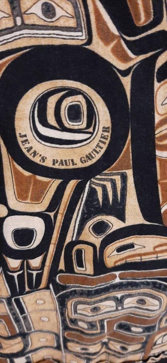 Jean Paul Gaultier vintage ethnic print cotton sh… - image 5