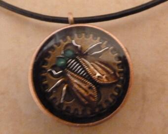 Copper Pipe Bug Pendant