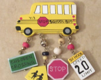 School Bus Magnet - One of a Kind Magnet