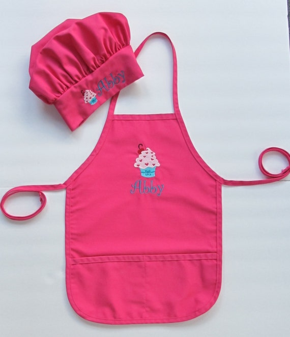 Personalized Kid's Apron AND Chef Hat