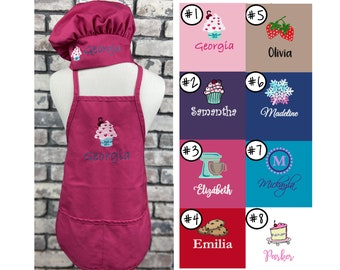 Personalized Kid's Apron - Apron for Woman - Cupcake - Mixer - Cookies - Strawberries - Snowflake - Cake  - Childs Apron or Adult Apron