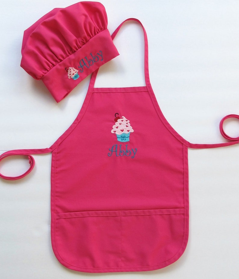 3bd3de36f5e Personalized Apron AND Chef Hat for Kids Childrens