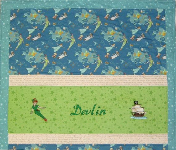 Peter Pan Baby Blanket.Made To Order Peter Pan Neverland Baby Quilt Blanket Size 34 X 41 Other Fabric And Images Choices Payment Plan Available