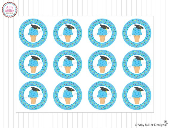 Preschool Or Kindergarten Graduation Favor Tags Ice Cream