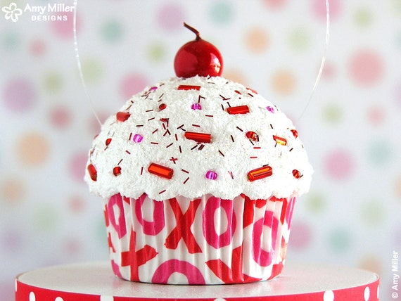 Mini Fake Valentine S Cupcake Decoration Valentine S Etsy