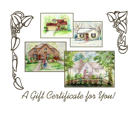 gift certificate for 16 x 20 house portrait etsy rh etsy com 16 x 20 house plan 16 x 10 heavy duty sheds