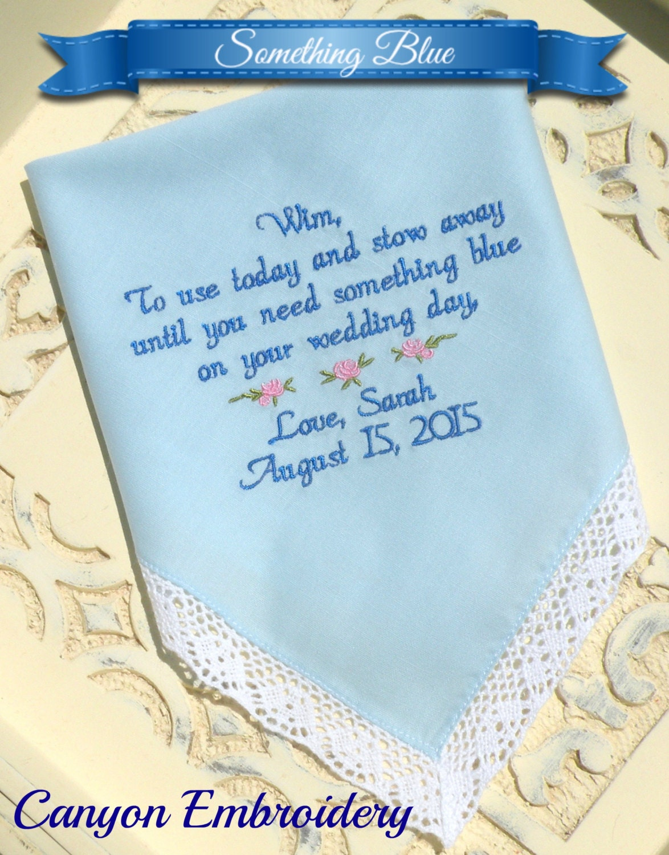 Something Blue Flower Girl Flowergirl Wedding Gifts Embroidered