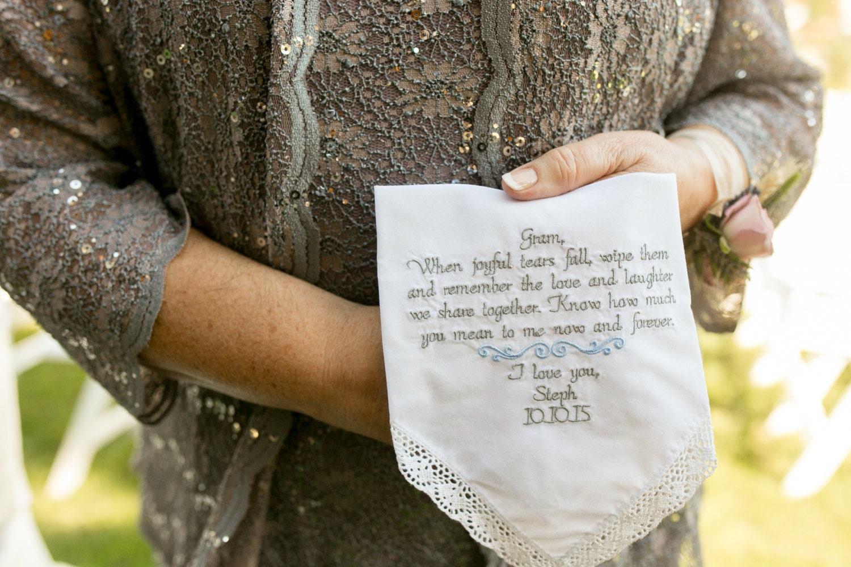 Wedding Handkerchief Gift For Grandma Wedding Gift For Grandmother