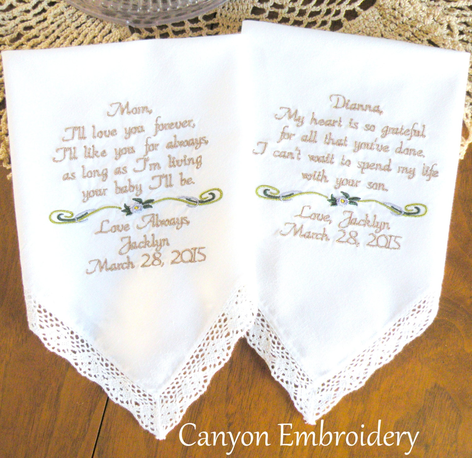 Set Of 2 Your Own Words Wedding Gift For Mom And Mother Etsy