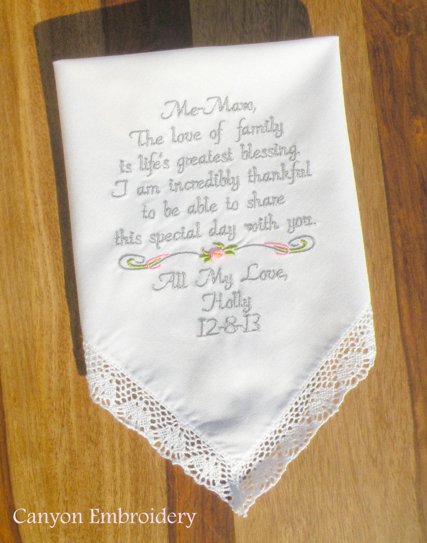 Wedding Gift For Grandmother Grandma Me Maw Embroidered Wedding