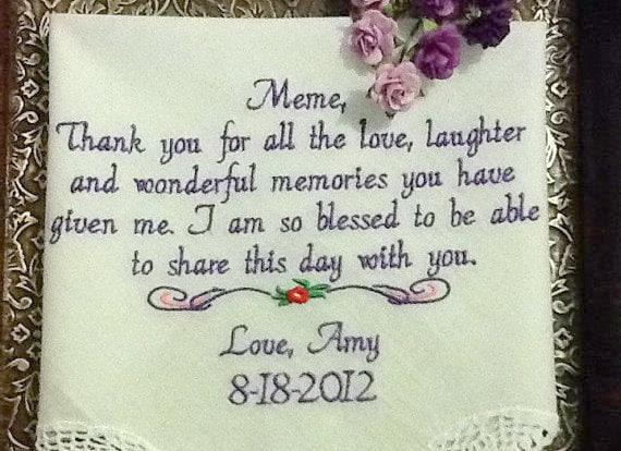 Grandmother Wedding Gift: Wedding Gift For Grandma Stepmom Aunt Thank You