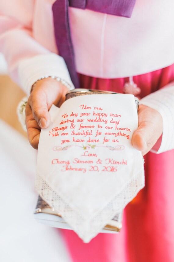 Wedding Gift For Grandma Aunt Mom Embroidered Wedding Etsy