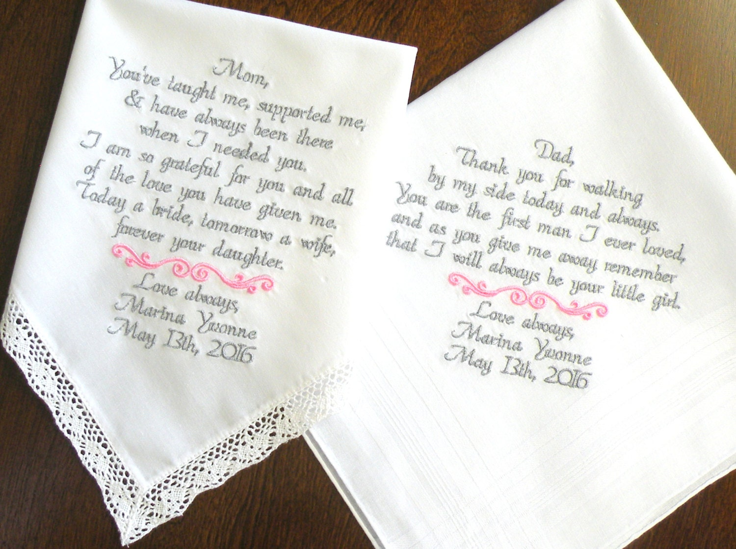 Mom and Dad Wedding Gift Mother of the Bride Father of the Bride ...